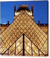 Louvre Pyramid Canvas Print