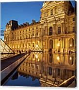 Louvre Reflections Canvas Print