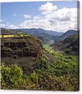 Lower Waimea Canyon Canvas Print