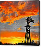 Lubbock Skyline Canvas Print