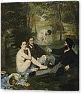 Luncheon On The Grass Canvas Print