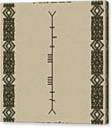 Maccabe Written In Ogham Canvas Print