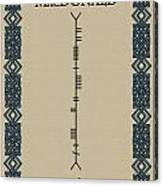 Macdonald Written In Ogham Canvas Print