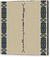 Macfadden Written In Ogham Canvas Print