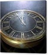 Macro Antique Watch Midnight Canvas Print