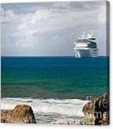 Majesty Of The Seas At Coco Cay Canvas Print