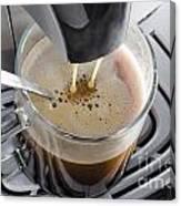 Making A Coffee Canvas Print