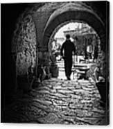 Man In An Archway / Hammamet Canvas Print