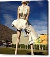 Marilyn In Palm Springs Canvas Print