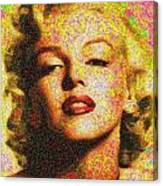 Marilyn Monroe - 100 Dollars Canvas Print