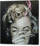 Marilyn's Crimson Haze Canvas Print