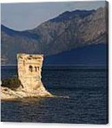 Martello Tower Near St Florent In Corsica Canvas Print