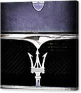 Maserati Hood - Grille Emblems Canvas Print