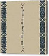 Mccarthy Written In Ogham Canvas Print