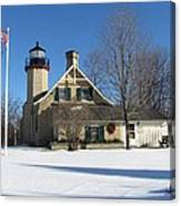 Mcgulpin Point Lighthouse In Winter Canvas Print