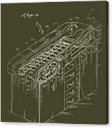 Medical Examining Table Patent 1974 Canvas Print