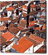 Medieval Town Rooftops Canvas Print