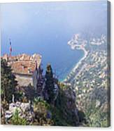 Mediterranean Below Eze 2 Canvas Print