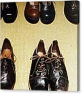 Mens Fine Italian Leather Shoes Canvas Print
