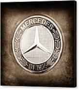Mercedes-benz 6.3 Amg Gullwing Emblem Canvas Print