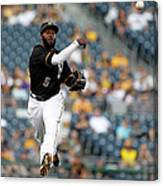 Miami Marlins V Pittsburgh Pirates 2 Canvas Print