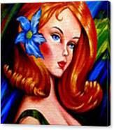 Mod Barbie Redhead Canvas Print