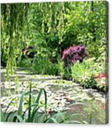 Monets Waterlily Pond Canvas Print