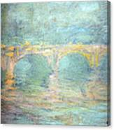 Monet's Waterloo Bridge In London At Sunset Canvas Print
