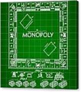 Monopoly Patent 1935 - Green Canvas Print