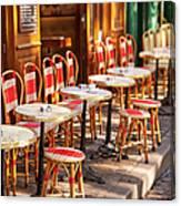 Montmartre Cafe Canvas Print