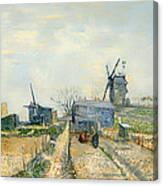 Montmartre Mills And Vegetable Gardens Canvas Print