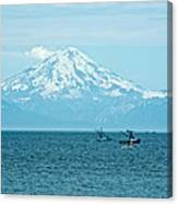 Mount Redoubt Across Cook Inlet From Ninilchik-ak   Canvas Print