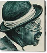 Mr Bowler Mustache Canvas Print