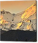 Mt. Shasta Sunset Panorama Canvas Print