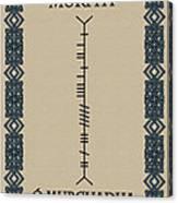 Murphy Written In Ogham Canvas Print