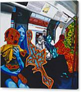 Mutinous Objects Gather In Darkness. The Underground Canvas Print
