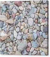 Natural Rock Pebble Backgorund Canvas Print