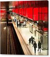 New Hafencity Station In Hamburg Canvas Print