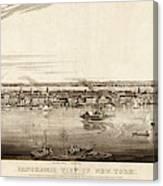 New York City, 1840 Canvas Print