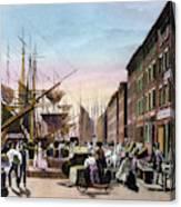 New York City, C1820 Canvas Print