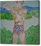 Niall Shaving  Canvas Print