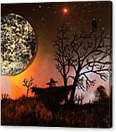 Night Of The Scarecrow  Canvas Print