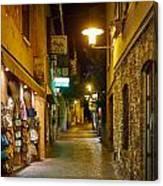 Night. Sirmione. Lago Di Garda Canvas Print