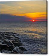 North Wildwood Sunrise Canvas Print