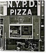 N.y.p.d. Pizza Canvas Print