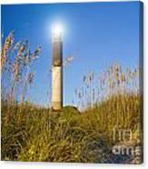 Oak Island Southport North Carolina Lighthouse Through The Cassw Canvas Print