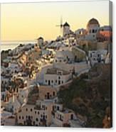 Oia At Sunset Santorini Cyclades Greece  Canvas Print