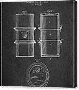 Oil Drum Patent Drawing From 1905 Canvas Print