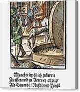 Oil Press, 1568 Canvas Print