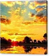 Okavango Delta Sunset Canvas Print
